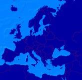 χάρτης της Ευρώπης διαχωριστικών γραμμών Στοκ Εικόνες