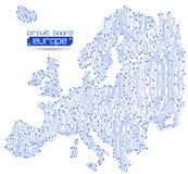 χάρτης της Ευρώπης κυκλω& απεικόνιση αποθεμάτων