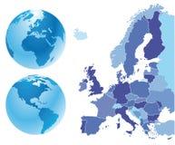 Χάρτης της Ευρώπης Στοκ φωτογραφία με δικαίωμα ελεύθερης χρήσης