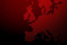 χάρτης της Ευρώπης Στοκ εικόνες με δικαίωμα ελεύθερης χρήσης