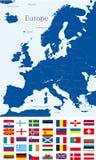 Χάρτης της Ευρώπης Στοκ εικόνα με δικαίωμα ελεύθερης χρήσης