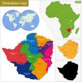 Χάρτης της Ζιμπάμπουε Στοκ εικόνα με δικαίωμα ελεύθερης χρήσης