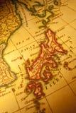 χάρτης της Ιαπωνίας παλαιός Στοκ φωτογραφίες με δικαίωμα ελεύθερης χρήσης