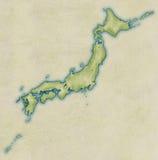 χάρτης της Ιαπωνίας παλαιός Στοκ Εικόνες