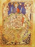 χάρτης της Ιερουσαλήμ μεσαιωνικός Στοκ Εικόνες