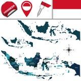 χάρτης της Ινδονησίας Στοκ εικόνα με δικαίωμα ελεύθερης χρήσης