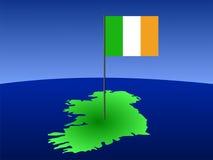 χάρτης της Ιρλανδίας σημα&iot διανυσματική απεικόνιση