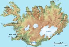 χάρτης της Ισλανδίας Στοκ Εικόνες