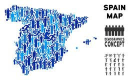 Χάρτης της Ισπανίας ανθρώπων απεικόνιση αποθεμάτων