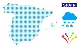 Χάρτης της Ισπανίας παγώματος απεικόνιση αποθεμάτων