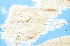 Χάρτης της Ισπανίας Στοκ εικόνα με δικαίωμα ελεύθερης χρήσης
