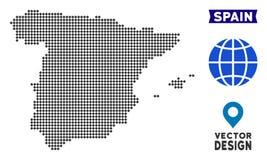 Χάρτης της Ισπανίας Pixelated διανυσματική απεικόνιση