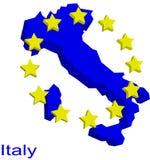 χάρτης της Ιταλίας περιγρά& Στοκ Φωτογραφίες