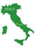 χάρτης της Ιταλίας Στοκ Εικόνες