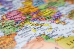 χάρτης της Ιταλίας Στοκ φωτογραφία με δικαίωμα ελεύθερης χρήσης