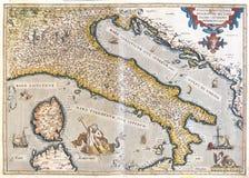 χάρτης της Ιταλίας παλαιό&sig Στοκ φωτογραφία με δικαίωμα ελεύθερης χρήσης