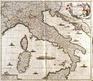 χάρτης της Ιταλίας παλαιό&sig Στοκ Φωτογραφία