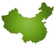 χάρτης της Κίνας Στοκ εικόνες με δικαίωμα ελεύθερης χρήσης
