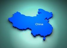 χάρτης της Κίνας Στοκ Εικόνες