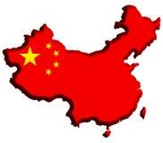 χάρτης της Κίνας Στοκ φωτογραφία με δικαίωμα ελεύθερης χρήσης