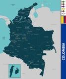 χάρτης της Κολομβίας ελεύθερη απεικόνιση δικαιώματος