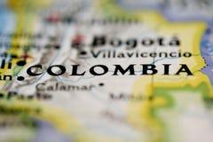 χάρτης της Κολομβίας Στοκ Εικόνα