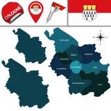 Χάρτης της Κολωνίας, Γερμανία Στοκ Εικόνες