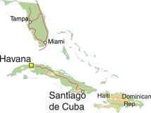 χάρτης της Κούβας διανυσματική απεικόνιση