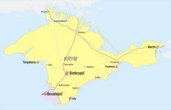 Χάρτης της Κριμαίας ελεύθερη απεικόνιση δικαιώματος