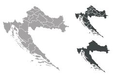 χάρτης της Κροατίας ελεύθερη απεικόνιση δικαιώματος