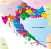 Χάρτης της Κροατίας διανυσματική απεικόνιση