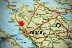 χάρτης της Κροατίας zadar Στοκ Φωτογραφίες