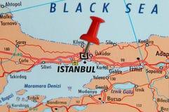 χάρτης της Κωνσταντινούπο&l Στοκ φωτογραφία με δικαίωμα ελεύθερης χρήσης