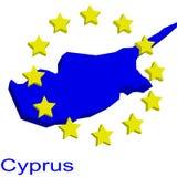 χάρτης της Κύπρου περιγράμμ Στοκ εικόνα με δικαίωμα ελεύθερης χρήσης