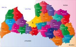 Χάρτης της Λετονίας απεικόνιση αποθεμάτων