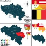 Χάρτης της Λιέγης, Βέλγιο Στοκ φωτογραφία με δικαίωμα ελεύθερης χρήσης