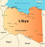 χάρτης της Λιβύης Στοκ Εικόνες