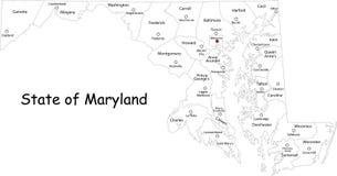 Χάρτης της Μέρυλαντ απεικόνιση αποθεμάτων