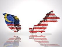 χάρτης της Μαλαισίας διανυσματική απεικόνιση