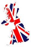 χάρτης της Μεγάλης Βρετανί& Στοκ Εικόνες