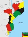 Χάρτης της Μοζαμβίκης Στοκ Φωτογραφία
