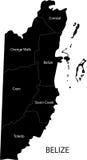 Χάρτης της Μπελίζ απεικόνιση αποθεμάτων