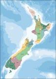 Χάρτης της Νέας Ζηλανδίας Στοκ εικόνες με δικαίωμα ελεύθερης χρήσης