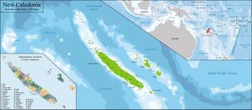 Χάρτης της Νέας Καληδονίας Στοκ εικόνα με δικαίωμα ελεύθερης χρήσης