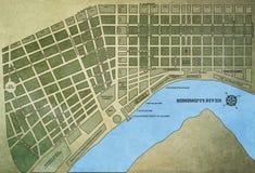 Χάρτης της Νέας Ορλεάνης Στοκ φωτογραφίες με δικαίωμα ελεύθερης χρήσης
