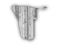 Χάρτης της Ναμίμπια στο ξεπερασμένο ξύλο Στοκ εικόνες με δικαίωμα ελεύθερης χρήσης