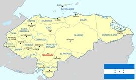 Χάρτης της Ονδούρας Στοκ φωτογραφία με δικαίωμα ελεύθερης χρήσης