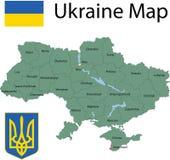 Χάρτης της Ουκρανίας. Στοκ φωτογραφία με δικαίωμα ελεύθερης χρήσης