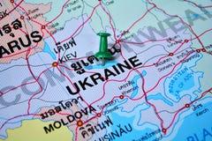 Χάρτης της Ουκρανίας Στοκ εικόνα με δικαίωμα ελεύθερης χρήσης