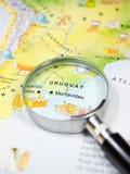 Χάρτης της Ουρουγουάης Στοκ φωτογραφία με δικαίωμα ελεύθερης χρήσης